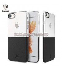 iPhone 7 Baseus Half Transparent TPU Case - Black