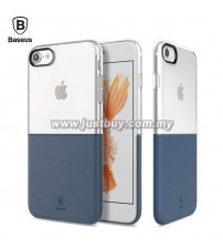 iPhone 7 Baseus Half Transparent TPU Case - Blue