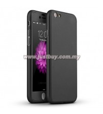 iPhone 6 Plus Full Body Coverage Protection Case With Tempered Glass - Black