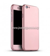 iPhone 6 Plus Full Body Coverage Protection Case With Tempered Glass - Rose Gold