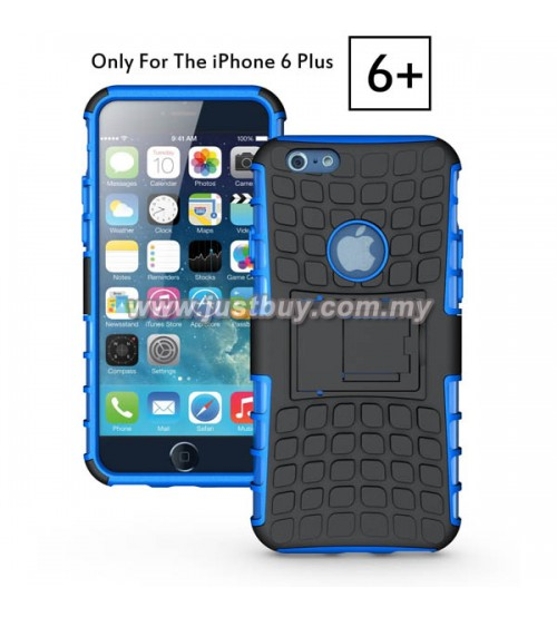 iPhone 6 Plus Dual Armor Composite Stand Case - Blue