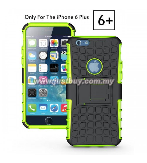 iPhone 6 Plus Dual Armor Composite Stand Case - Green