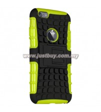 iPhone 6 Dual Armor Composite Stand Case - Green