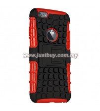 iPhone 6 Dual Armor Composite Stand Case - Red