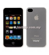 iPhone 4/4s More Rubber Series Case - Transparent White