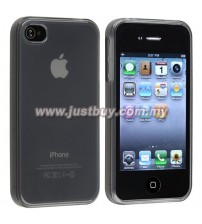 iPhone 4 / 4s TPU Rubber Silicone Case - Grey