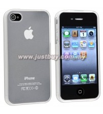 iPhone 4 / 4s TPU Rubber Silicone Case - Transparent