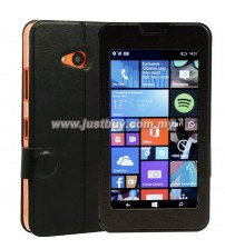 Microsoft Lumia 640 Window View Flip Case - Black