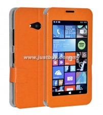 Microsoft Lumia 640 Window View Flip Case - Orange