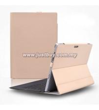 Microsoft Surface Pro 3 D-Park Detachable Velcro Case - Light Brown