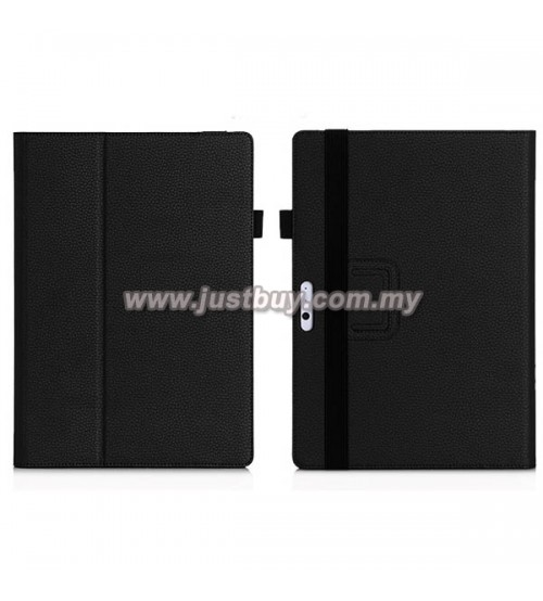 Microsoft Surface PRO 3 / PRO 4 Slim Fit PU Leather Case - Black