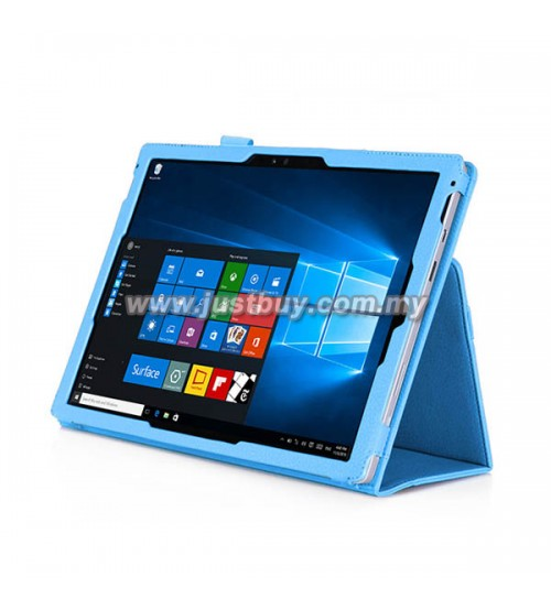 buy microsoft surface pro 3 pro 4 slim fit pu leather case blue malaysia. Black Bedroom Furniture Sets. Home Design Ideas