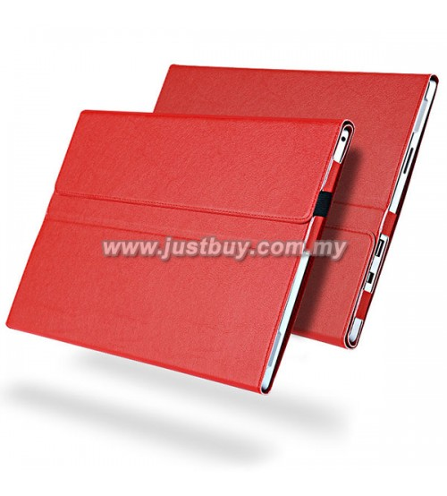Microsoft Surface PRO 4 PU Leather Protective Case - Red