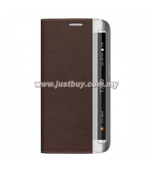 Samsung Galaxy S6 Edge Zenus Buffalo Diary Leather Case - Brown