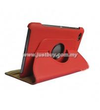 Samsung Galaxy Tab 7.7 P6800 360 Degree Rotation Case - Red