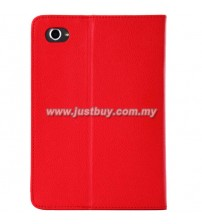 Samsung Galaxy Tab 7.7 Premium Leather Case - Red