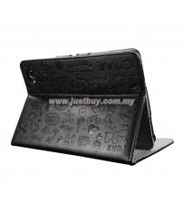 Samsung Galaxy Tab 7.7 P6800 Korea Cute Design Leather Case - Black