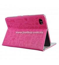 Samsung Galaxy Tab 7.7 P6800 Korea Cute Design Leather Case - Pink