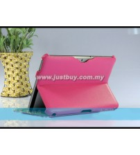 Samsung Galaxy Tab 8.9 Premium Slim Leather Case - Pink