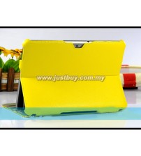 Samsung Galaxy Tab 8.9 Premium Slim Leather Case - Yellow