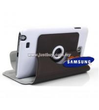 Samsung Galaxy Note i9220 360 Rotating Case - Dark Brown