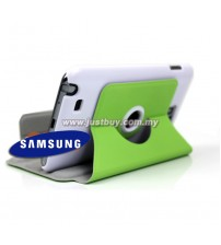 Samsung Galaxy Note i9220 360 Rotating Case - Green