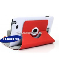 Samsung Galaxy Note i9220 360 Rotating Case - Red