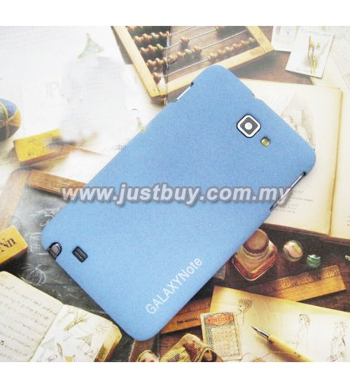 Samsung Galaxy Note i9220 Scrub Fiber Case - Blue
