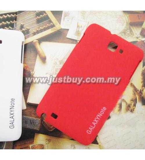 Samsung Galaxy Note i9220 Scrub Fiber Case - Red