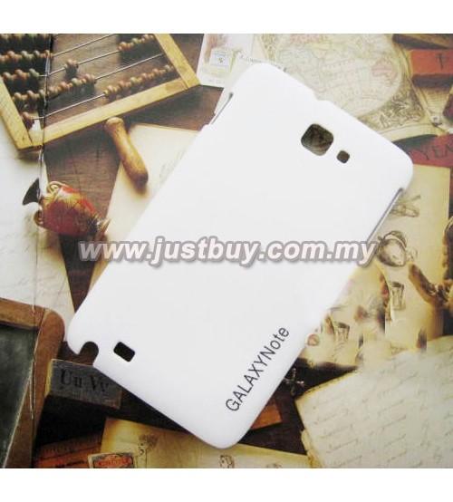 Samsung Galaxy Note i9220 Scrub Fiber Case - White