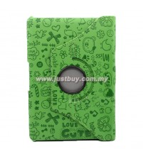 Samsung Galaxy 10.1 P7500/P5100 Rotating Korea Cute Case - Green