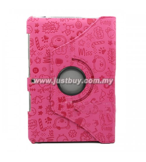 Samsung Galaxy 10.1 P7500/P5100 Rotating Korea Cute Case - Pink