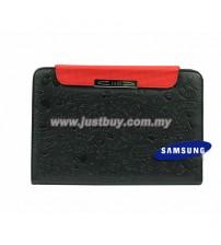 Samsung Galaxy Tab 7 Plus P6200 Cute Pattern Leather Book Case - Black