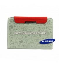Samsung Galaxy Tab 7 Plus P6200 Cute Pattern Leather Book Case - Grey