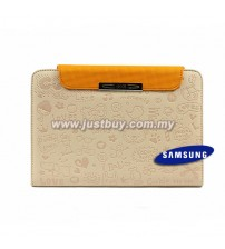 Samsung Galaxy Tab 7 Plus P6200 Cute Pattern Leather Book Case - Pale Pink