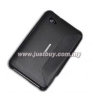 Samsung Galaxy Tab 7.0 Plus P3100 & P6200 Fiber Book Cover Case - Black
