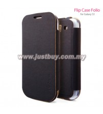 Samsung Galaxy S3 SGP Folio Flip Case - Black
