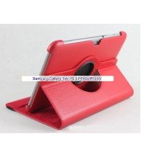 Samsung Galaxy Tab 10.1 P5100 & P7500 360 Degree Rotation Leather Case - Red