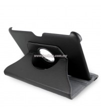 Samsung Galaxy Tab 8.9 360 Degree Rotation Leather Case - Black