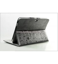 Samsung Galaxy Tab 10.1 P5100 & P7500 Korea Cute Design Leather Case - Black