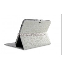Samsung Galaxy Tab 10.1 P5100 & P7500 Korea Cute Design Leather Case - White