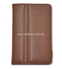 Samsung Galaxy Tab P1000 Leather Case - Brown