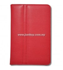 Samsung Galaxy Tab P1000 Leather Case - Red