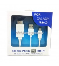 Samsung Galaxy Note 3, Note 2, S4, S3 USB 3.0 1080P HDMI HDTV Cable