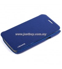Samsung Galaxy Core USAMS Slim Flip Case - Dark Blue