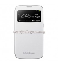 Samsung Galaxy Mega 6.3 OEM S-View Flip Cover - White