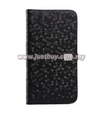 Samsung Galaxy Mega 6.3 Ultra Slim Crystal Veins Flip Case - Black