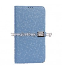 Samsung Galaxy Mega 6.3 Ultra Slim Crystal Veins Flip Case - Blue