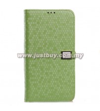 Samsung Galaxy Mega 6.3 Ultra Slim Crystal Veins Flip Case - Green