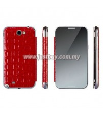 Samsung Galaxy Note 2 Anymode Me In Mirror Folio Cover - Red
